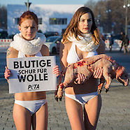 PETA Fashion week protest