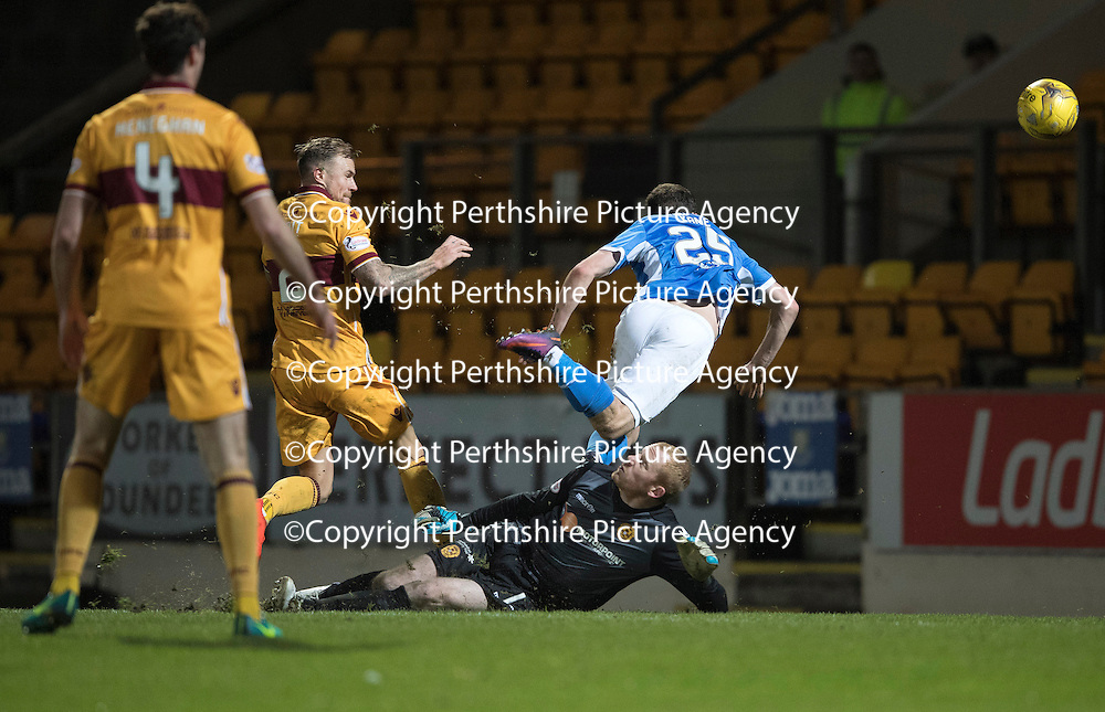 St Johnstone v Motherwell&Ouml;17.12.16     McDiarmid Park    SPFL<br /> Chris Kane scores for saints<br /> Picture by Graeme Hart.<br /> Copyright Perthshire Picture Agency<br /> Tel: 01738 623350  Mobile: 07990 594431
