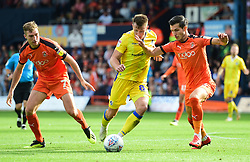 Ollie Clarke of Bristol Rovers battles for the ball with Dan Potts of Luton Town - Mandatory by-line: Alex James/JMP - 15/09/2018 - FOOTBALL - Kenilworth Road - Luton, England - Luton Town v Bristol Rovers - Sky Bet League One