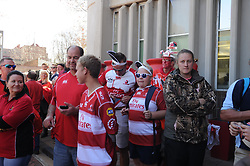 28-07-18 Emirates Airline Park, Johannesburg. Super Rugby semi-final Emirates Lions vs NSW Waratahs. Lions fans wait for their team arrive before the start of the semi-final. Picture: Karen Sandison/African News Agency (ANA)
