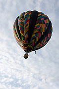 'Firefly' in flight, Crown of Maine Balloon Fair, Presque Isle, Maine.
