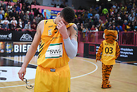 Basketball  1. Bundesliga  2016/2017  Hauptrunde  12. Spieltag  04.12.2016 Walter Tigers Tuebingen - ratiopharm Ulm Enttaeuchung Tigers; Isaiah Philmore