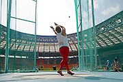 Anita Wlodarczyk from Poland competes in women's hammer throw qualification during the 14th IAAF World Athletics Championships at the Luzhniki stadium in Moscow on August 14, 2013.<br /> <br /> Russian Federation, Moscow, August 14, 2013<br /> <br /> Picture also available in RAW (NEF) or TIFF format on special request.<br /> <br /> For editorial use only. Any commercial or promotional use requires permission.<br /> <br /> Mandatory credit:<br /> Photo by &copy; Adam Nurkiewicz / Mediasport