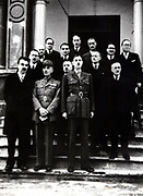 Charles de Gaulle (1890-1970) French General and first President of The Fifth Republic. General de Gaulle with members of the Government in exile in Algeria in November 1943 during World War II. Photograph.