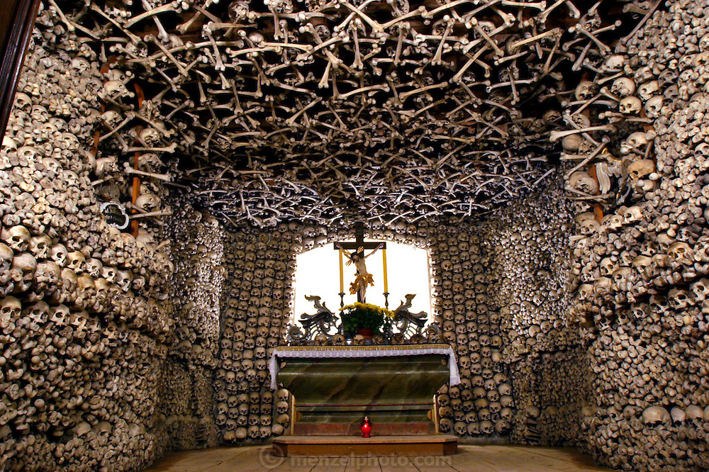 Bone Chapel at Kudowa Zdroj, Poland.