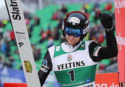 03.02.2017, Heini Klopfer Skiflugschanze, Oberstdorf, GER, FIS Weltcup Ski Sprung, Oberstdorf, Skifliegen, im Bild Michael Glasder (USA) // Michael Glasder (USA) during mens FIS Ski Flying World Cup at the Heini Klopfer Skiflugschanze in Oberstdorf, Germany on 2017/02/03. EXPA Pictures © 2017, PhotoCredit: EXPA/ Sammy Minkoff<br /> <br /> *****ATTENTION - OUT of GER*****