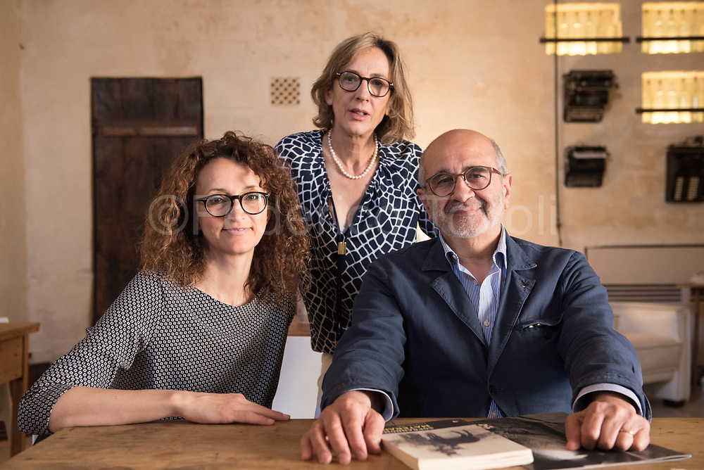 Daniela Amoroso, Marisa Amoroso and Fernando Ponte respectively architect designer and owners of the Corte San Pietro Hotel