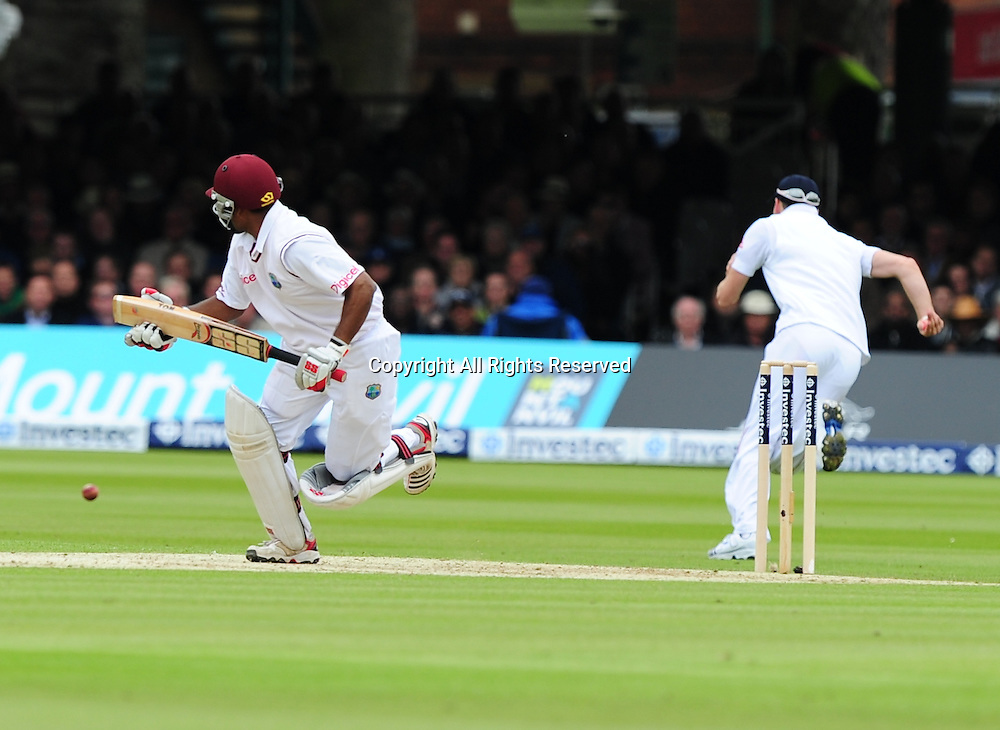 17.05.2012 London, England. Adrian Barath in action during the First Test between England and West Indies from Lords.