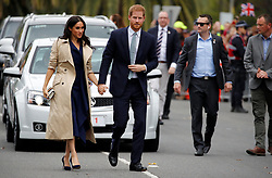 The Duke and Duchess of Sussex meet members of the public at the Royal Botanic Gardens in Melbourne on the third day of the royal couple's visit to Australia.