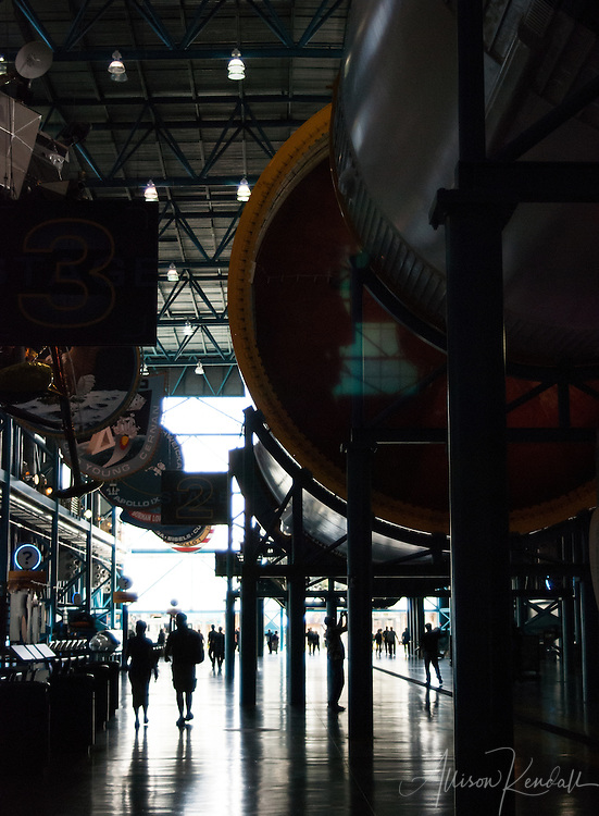Details of historical displays, space exploration, rockets, NASA technology at Kennedy Space Center, Florida