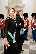 15.04.2015. Copenhagen, Denmark.Queen Maxima and King Willem-Alexander of The Netherlands attended a Gala Dinner at Christiansborg Palace on the eve of The 75th Birthday of Queen Margrethe of Denmark.Photo:© Ricardo Ramirez