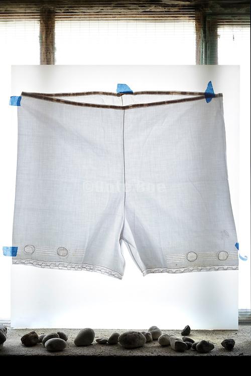 vintage female underskirt slip