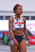 Shakira Nelvis competes in the 60m during the USA Indoor Track and Field Championships in Staten Island, NY, Sunday, Feb 24, 2019. (Rich Graessle/Image of Sport)