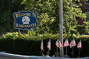 A Susquehanna, PA, welcome sign greets visitors, Thursday, July 21, 2016. <br /> CREDIT: Heather Ainsworth for The Wall Street Journal