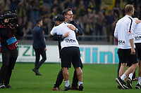 2019-09-01 | Solna, Sweden: AIKs coach Rikard Norling during the game between AIK and Djurgårdens IF at Friends Arena ( Photo by: Simon Holmgren | Swe Press Photo )<br /> <br /> Keywords: Friends Arena, Solna, Soccer, Allsvenskan, AIK, Djurgårdens IF