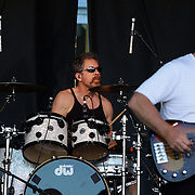Drummer Doug 'Cosmo' Clifford and bassist Stu Cook performing with Creedence Clearwater Revisited performing at the Queenstown Events Centre, Queenstown,  Otago, New Zealand. 5th February 2012. Photo Tim Clayton