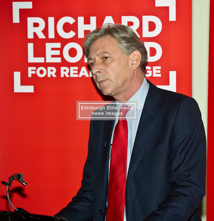 Pictured: Richard Leonard MSP<br /> <br /> The Scottish Labour leadership candidate Richard Leonard visited the Serenity Cafe today tol deliver a keynote speech ahead of the ballots going out.<br /> <br /> Ger Harley | EEm 24 October 2017
