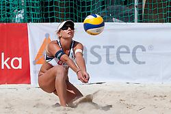 Erika Fabjan at Zavarovalnica Triglav Beach Volley Open as tournament for Slovenian national championship on July 29, 2011, in Kranj, Slovenia. (Photo by Matic Klansek Velej / Sportida)