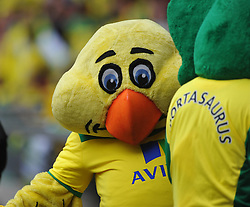 Norwich Canary Mascot, Middlesbrough v Norwich, Sky Bet Championship, Play Off Final, Wembley Stadium, Monday  25th May 2015