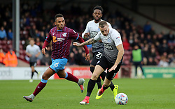 Marcus Maddison of Peterborough United in action with Funso Ojo of Scunthorpe United - Mandatory by-line: Joe Dent/JMP - 21/10/2017 - FOOTBALL - Glanford Park - Scunthorpe, England - Scunthorpe United v Peterborough United - Sky Bet League One