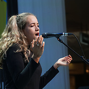 London, UK. 3rd September 2017. Finalists Maeve Fitzpatrick  preform at the Mayor Of London Gigs at Westfield London.