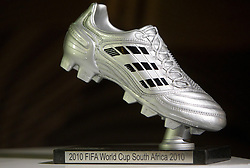 Adidas Silver Boot during FIFA World Cup 2010 on July 1, 2010 at the adidas Jo'bulani Centre in Sandton Convention Centre in Johannesburg. (Photo by Vid Ponikvar / Sportida)