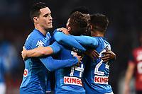 esultanza gol Dries Mertens<br /> Genova 25-10-2017 Stadio Marassi Calcio Serie A 2017/2018 Genoa - Napoli Foto Image Sport / Insidefoto