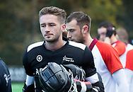 BILTHOVEN - Keeper Youri Beck (Almere)  voor de competitiewedstrijd heren,  SCHC-Almere (3-2) . COPYRIGHT KOEN SUYK