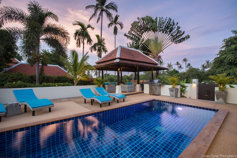 Swimming pool at Villa Divina, a private and luxury 3 bedroom villa located in Plumeria Place, a private residence in Bang Rak, Koh Samui, Thailand
