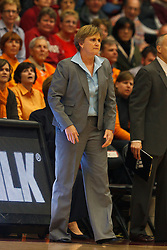 Dec 20, 2011; Stanford CA, USA;  Tennessee Lady Volunteers assistant head coach Holly Warlick on the sidelines against the Stanford Cardinal during the first half at Maples Pavilion.  Mandatory Credit: Jason O. Watson-US PRESSWIRE