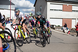 Anna Christian (GBR) of Drops Cycling Team corners on Stage 2 of 2019 Festival Elsy Jacobs, a 111.1 km road race starting and finishing in Garnich, Luxembourg on May 12, 2019. Photo by Balint Hamvas/velofocus.com