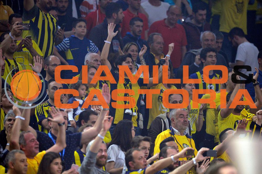tifosi Fenerbahce Istanbul<br /> Fenerbahce Istanbul - Olympiakos Piraeus<br /> Euroleague Final Four 2017<br /> Finale 1 - 2 Posto<br /> Euroleague 2016/2017<br /> Istanbul, 21/05/2017<br /> Foto M.Ceretti / Ciamillo - Castoria