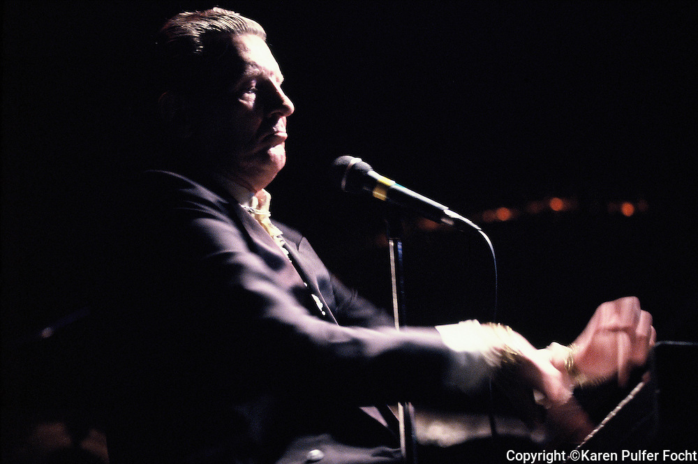 Jerry Lee Lewis performing in the 1990's.