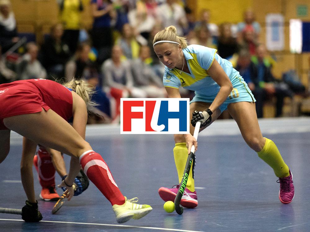 BERLIN - Indoor Hockey World Cup<br /> Namibia - Ukraine<br /> foto: Maryna Khilko <br /> WORLDSPORTPICS COPYRIGHT FRANK UIJLENBROEK
