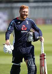 England's Jonny Bairstow during the nets session at the Bristol County Ground.