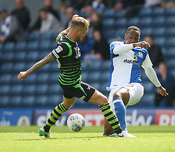 James Coppinger of Doncaster Rovers (L) and Ryan Nyambe of Blackburn Rovers - Mandatory by-line: Jack Phillips/JMP - 12/08/2017 - FOOTBALL - Ewood Park - Blackburn, England - Blackburn Rovers v Doncaster Rovers - English Football League One