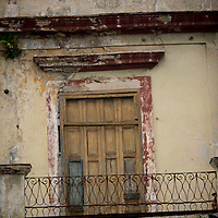 Cuba, Havana central, along el prado, architecture
