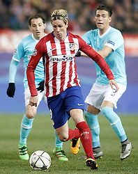15-03-2016 ESP, UEFA CL, Atletico Madrid - PSV Eindhoven, Madrid<br /> Atletico de Madrid's Fernando Torres (c) and PSV Eindhoven's Andres Guardado (l) and Hector Moreno // during the UEFA Champions League Round of 16, 2nd Leg match between Atletico Madrid and PSV Eindhoven at the Estadio Vicente Calderon in Madrid, Spain on 2016/03/15. <br /> <br /> ***NETHERLANDS ONLY***