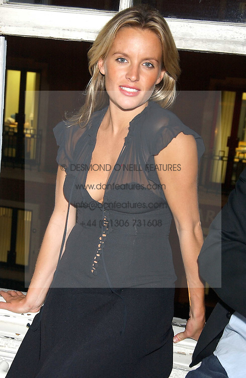 DAVINIA TAYLOR at a party hosted by Franc Roddam and Frost French to celebrate the publication of Margarita's Olive Press by Rodney Sheilds held at No1 Greek Street, Soho Square, London W1 on 15th September 2005.<br />