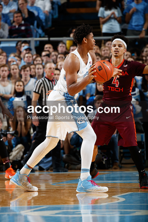 CHAPEL HILL, NC - JANUARY 26: Isaiah Hicks #4 of the North Carolina Tar Heels plays against the Virginia Tech Hokies on January 26, 2017 at the Dean Smith Center in Chapel Hill, North Carolina. North Carolina won 91-72. (Photo by Peyton Williams/UNC/Getty Images) *** Local Caption *** Isaiah Hicks