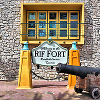 Entrance of Rif Fort in Otrobanda, Westside of Willemstad, Cura&ccedil;ao<br />