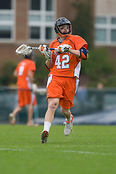 05 April 2008: Virginia Cavaliers midfielder Max Pomper (42) during a 11-12 OT win over the North Carolina Tar Heels on Fetzer Field in Chapel Hill, NC.