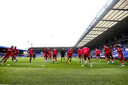 Bristol City warm up at Birmingham City - Mandatory by-line: Robbie Stephenson/JMP - 10/08/2019 - FOOTBALL - St Andrew's Stadium - Birmingham, England - Birmingham City v Bristol City - Sky Bet Championship