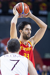 September 17, 2018 - Madrid, Spain - Javier Beiran of Spain during the FIBA Basketball World Cup Qualifier match Spain against Latvia at Wizink Center in Madrid, Spain. September 17, 2018. (Credit Image: © Coolmedia/NurPhoto/ZUMA Press)