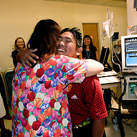 HONOLULU, HAWAII, November 7, 2007: Tadd Fujikawa, a sixteen-year-old professional golfer, was born three months prematurely and was confined to the Neonatal Intensive Care Unit. He took to time to visit the hospital in Hawaii where he met two of the nurses who had cared for him. (Photographs by Todd Bigelow/Aurora)