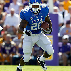 October 1, 2011; Baton Rouge, LA, USA;  Kentucky Wildcats running back Josh Clemons (20) against the LSU Tigers during the first quarter at Tiger Stadium.  Mandatory Credit: Derick E. Hingle-US PRESSWIRE / © Derick E. Hingle 2011