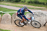 Julien Absalon (FRA), Olympic Test Event, Hadleigh Farm Mountain Bike Centre, England, Photo by: Peter Llewellyn
