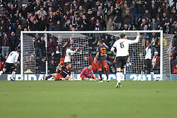 Derby Celebrate Their Goal and Equaliser from Darren Bent,  Derby County v Reading, FA Cup 5th Round, The Ipro Stadium, Saturday 14th Febuary 2015