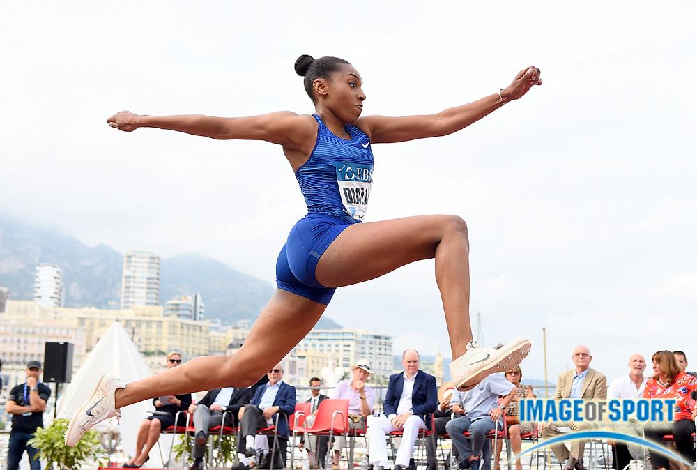 Rouguy Diallo (FRA) places 10th in the women's triple jump at 46-7 1/4 (14.20m)  during the women's triple jump in the  Herculis Monaco in an IAAF Diamond League meet , Thursday, July 11, 2019, in Port Hercules, Monaco.(Jiro Mochizuki/Image of Sport)