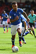 Oldham Athletic striker Aaron Amadi-Holloway (10) on the ball 0-0 during the EFL Sky Bet League 1 match between Walsall and Oldham Athletic at the Banks's Stadium, Walsall, England on 12 August 2017. Photo by Alan Franklin.